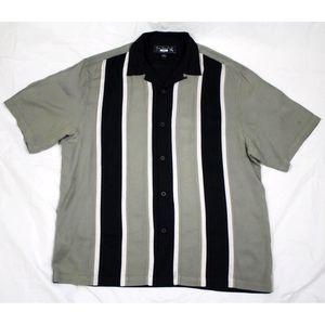 Nat Nast Short Sleeve Button Front Silk Shirt